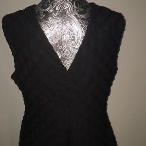 London Times Dresses - London Times Black Sleeveless Dress